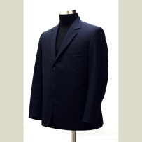 The suit jacket made of English fabric with fusion medium construction in English style