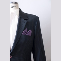 Single jacket made of Dormeuil/ Amadeus fabric with full canvas construction in German Cut with unwonted details